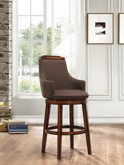 Bayshore Henry Swivel Pub Height Fabric Chair