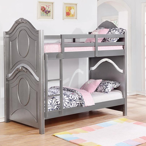 Valentine Cali Grey Twin/Twin Bunk Bed