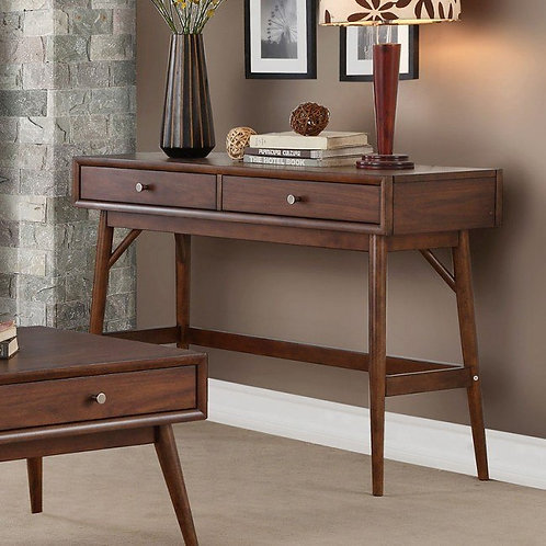Frolic Henry Mid-Century Brown Sofa Table
