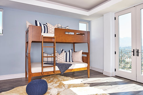 Livermore Cali Twin/Twin Bunk Bed Walnut