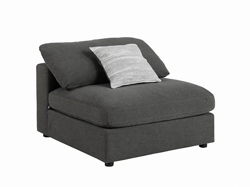 Serene Cali Upholstered Charcoal Armless Chair