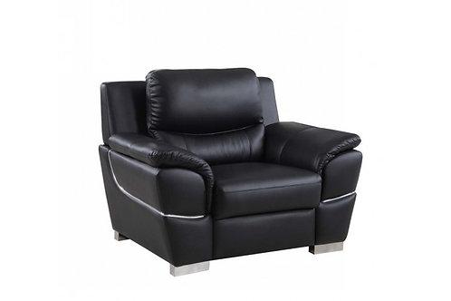 4572 GU Black Leather Chair