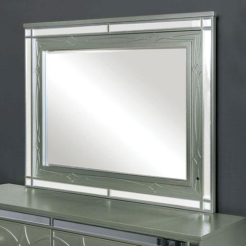 MANAR Imprad Transitional Silver Mirror w/Lights