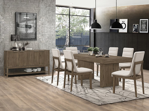 Torrington Cali Dining Table With Hidden Storage Wheat Brown
