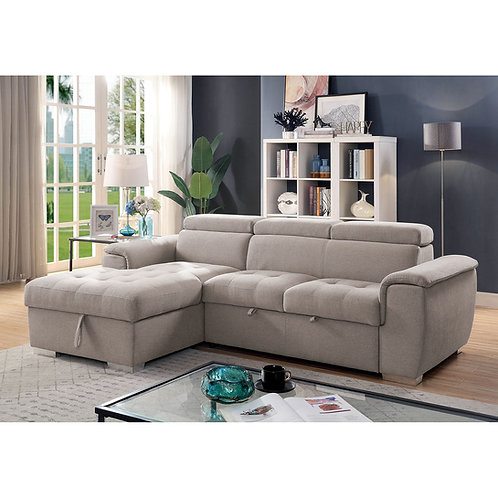 STINA Imprad Pull-Out Sleeper Sectional Light Gray