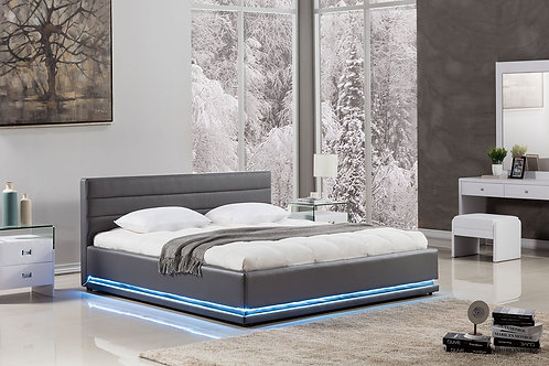 022 AE Dark Gray Queen Bed w/ LED Light