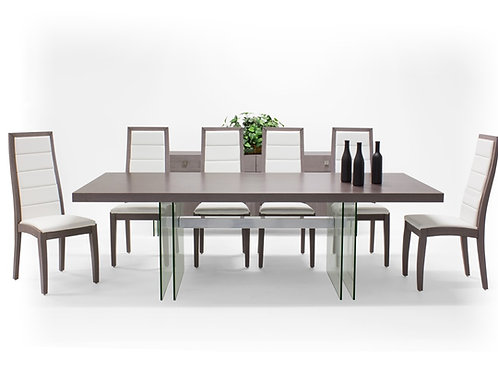 Orly Shar Brown/Gray Dining Table