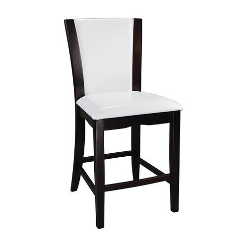 Daisy Henry Counter Height Chair, White Bi-Cast Vinyl