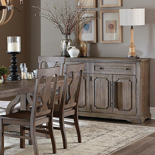 Toulon Henry Distressed Dark Oak Server