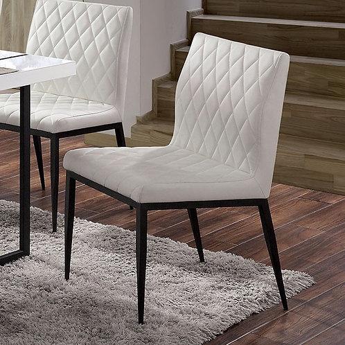Alisha Imprad Ivory Diamond Stitching Chair
