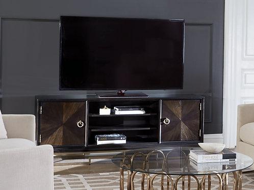 Corliss Cali 2-Door TV Console Americano And Rose Brass