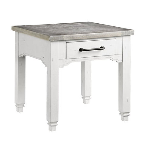 Emeral Centerville Antique White End Table w/1 Drawer
