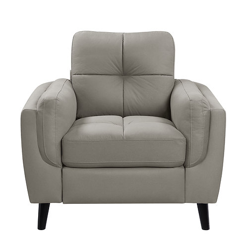 Henry Dorelle Casual Taupe Microfiber Chair