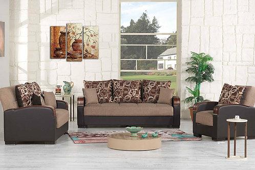 Diva Pegasus Click Clack Sleeper Sofa – Brown Fabric