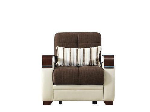 Diva Dogal Royal Brown Fabric Chair Sleeper