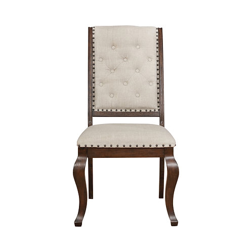 Brockway Cali Tufted Dining Chairs Cream