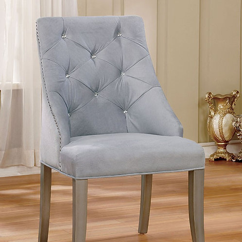 Diocles Imprad Gray Flannelette Chair