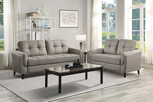 Henry Dorelle Casual Taupe Microfiber Sofa