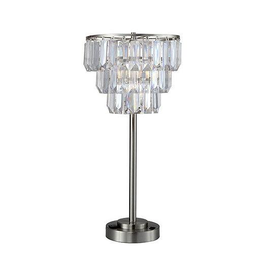 Meg Imprad Clear / Silver Metal Table Lamp