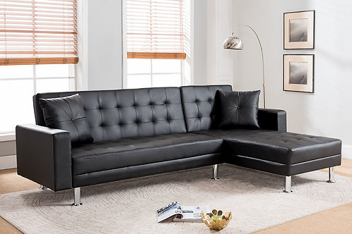 8036 Milt Reversible Click-Clack Sectional Black