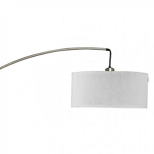 Jess Imprad Brushed Steel Marble / Metal Floor Lamp