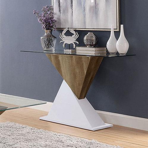 BIMA II Imprad Contemporary Glass- 2 Tone Base Sofa Table