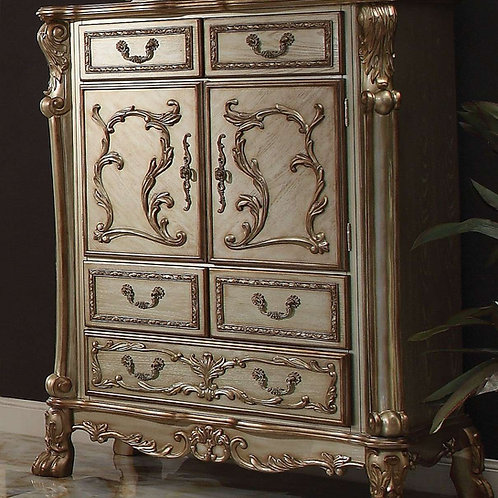 Dresden All Vintage Gold Finish Chest