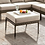 Thumbnail: ALEISHA Imprad Gray, Beige Contemporary Wicker Patio Ottoman