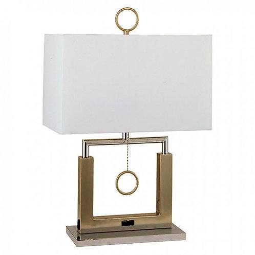 Jessica Imprad Brushed Steel Table Lamp