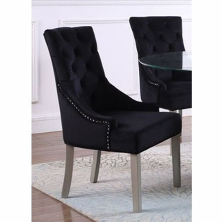 T1803 Best Black Velour Chair