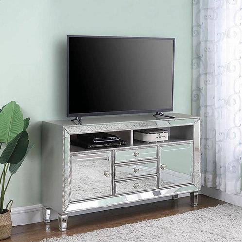 722272 Cali Metallic Platinum TV Stand