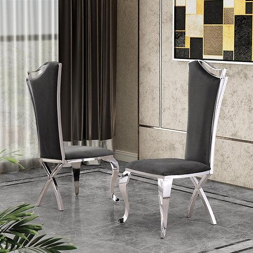 Best SC36 Dark Gray Velvet Side Chair