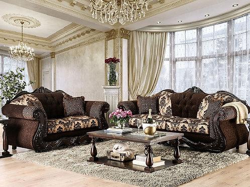 RONJA Imprad Dark Brown Chenille Sofa