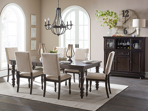 Henry Begonia Casual Grayish brown finish Dining Table