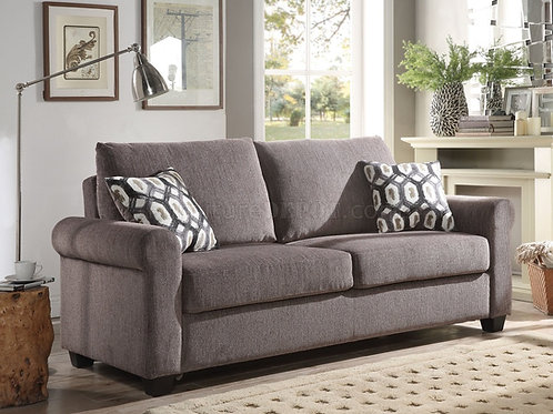 Neveah All Sofa w/Sleeper (2 Pillows) Gray Chenille