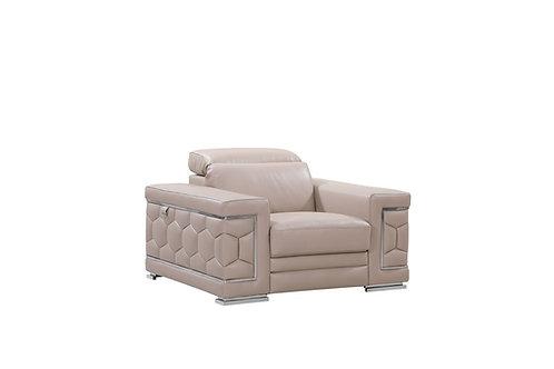 692 Geo Beige Italian Leather Chair