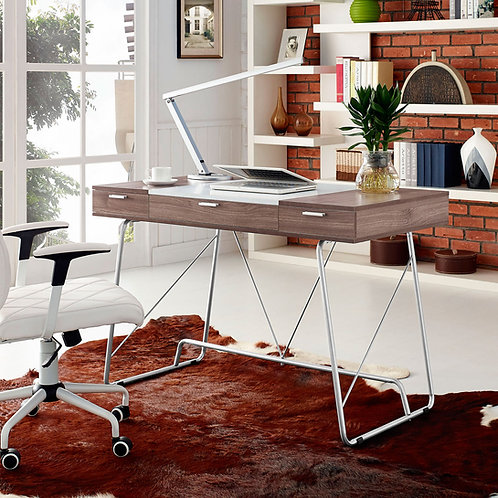 Panel Mod Office Desk in Birch