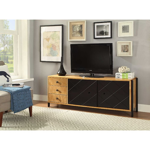 All Honna TV Console - 90175 - Natural & Black