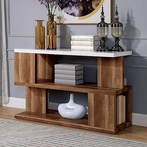 MAJKEN Imprad Contemporary White, Natural Tone Sofa Table