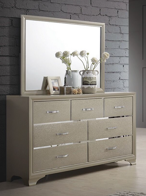 Cali Beaumont Transitional Glam Champagne Dresser