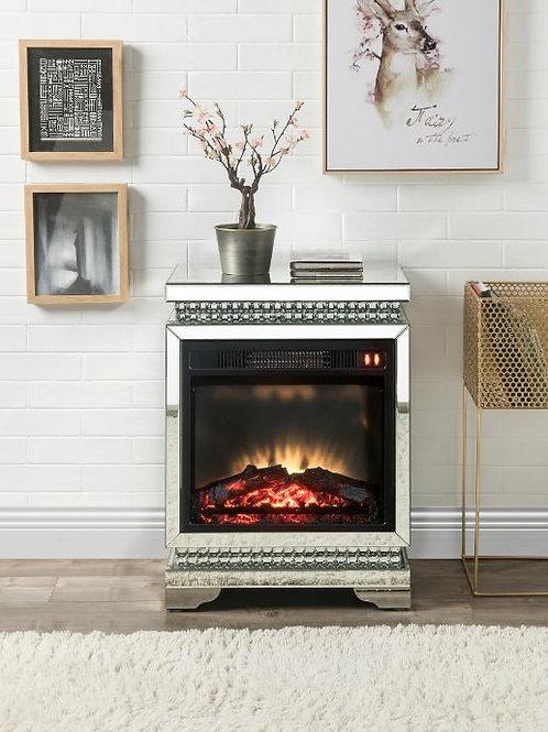 All 90870 Lotus Mirrored & Faux Diamonds Fireplace