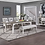 Thumbnail: Emeral Centerville Antique White Dining Table w/Butterfly Leaf