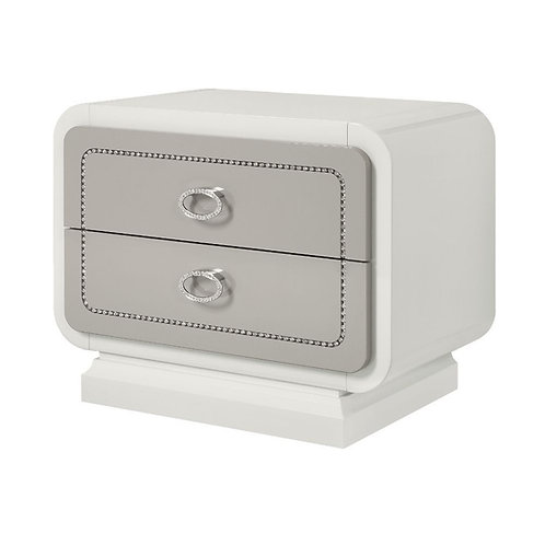 Allendale All Nightstand Ivory & Latte High Gloss