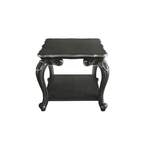 All House of Delphine Charcoal Finish End Table