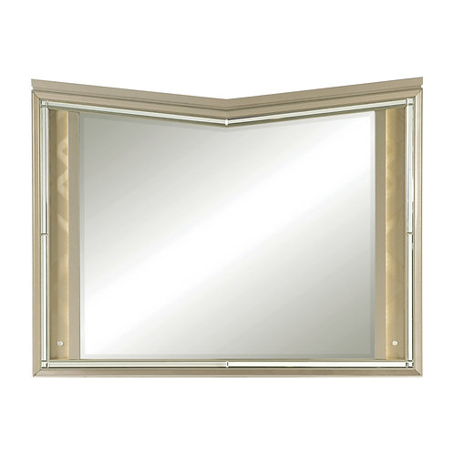 Bijou Henry Champagne Mirror with LED Lights