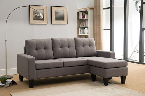 8023 Milt Light Gray Reversible Sectional