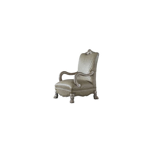 Dresden All Accent Chair Vintage Bone White and PU