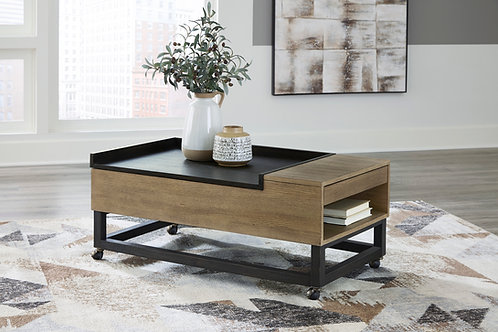 Fridley Angel 2 Tone Contemporary Lift Top Cocktail Table