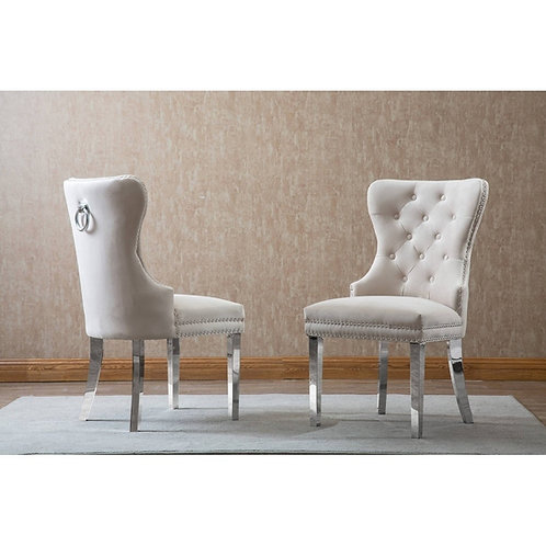 Best SC48 Cream Tufted Side Chair