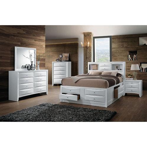 Ireland All Bed w/Storage White